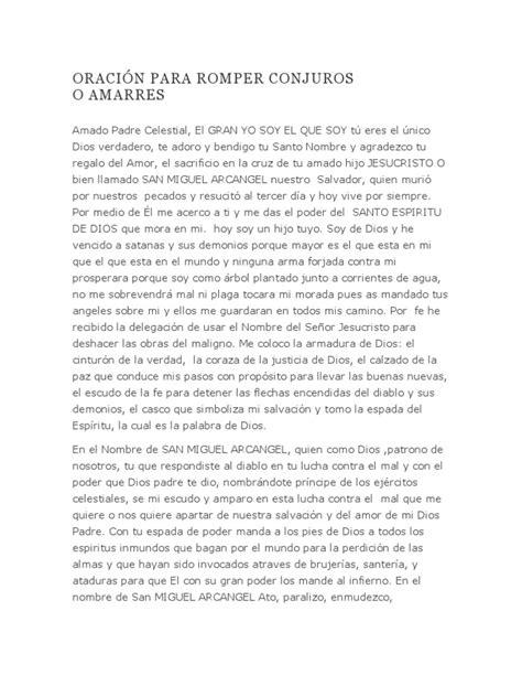 ORACIÓN PARA ROMPER CONJUROS O | Espíritu | Miguel (Arcángel)