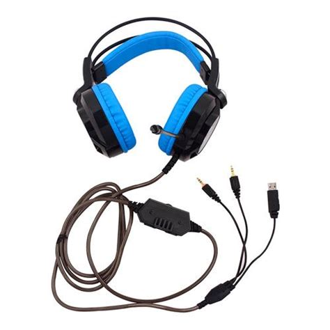 Keenion Gaming Headset K6 nubwo k6 gaming headphone with microphone black and blue