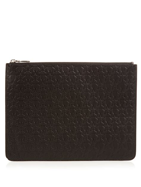 Givenchy Pouch givenchy leather pouch in black for lyst