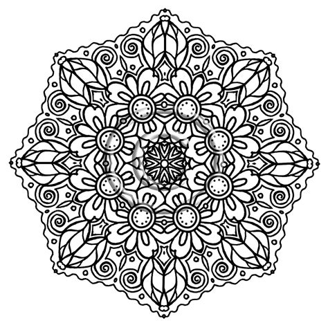 coloring pages designs mandala free coloring pages of mandala flower