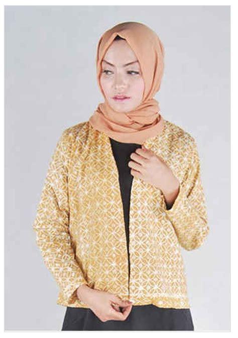 desain baju ibi desain baju muslim cardigan modern kombinasi batik 2016