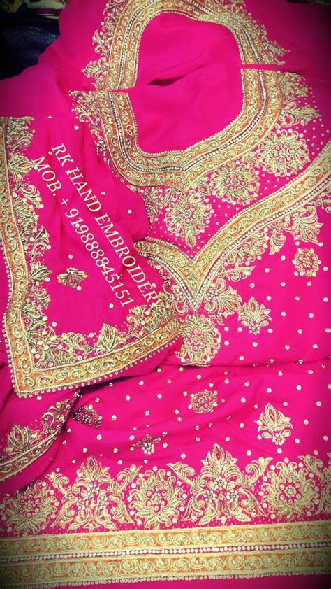 boutique in punjab hand embriodery machine embriodery designer royal hand work punjabi suits rk hand