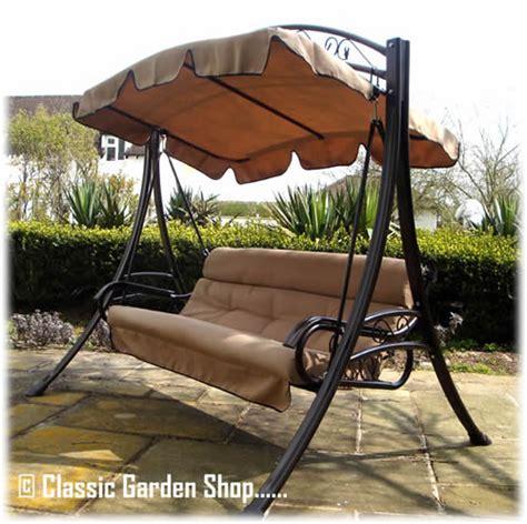 swinging benches for the garden buy the rimini garden swing bench hammock direct