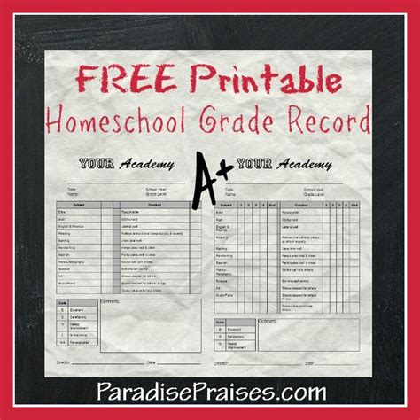 how to make a report card for homeschoolers free homeschool printables