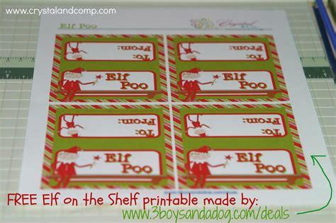 free printable elf on the shelf tags elf on the shelf printables elf poo
