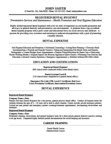 registered dental hygienist resume template premium resume sles exle