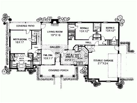Wide Modern Tuscan House Plans Three Bedroom Homescorner Com One Level Tuscan House Plans