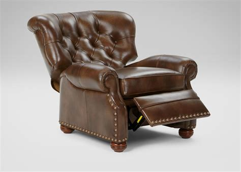 ethan allen cromwell recliner cromwell leather recliner omni tobacco custom quick