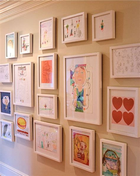 how to display art prints every child is an artist children s art display by