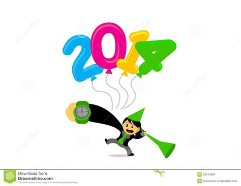 free themes cartoon character new year themes cartoon character royalty free stock