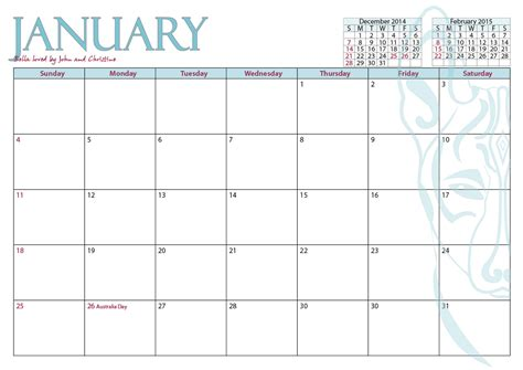 2015 month calendar printable large calendar template 2016