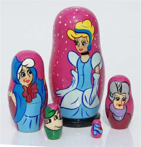 Matryoshka Fairytale Russian Dolls 1 Set Isi 10 1 cinderella matryoshka russian wooden nesting tale