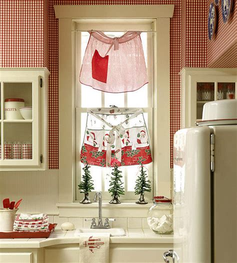 christmas curtains for kitchen christmas aprons as kitchen curtains pictures photos and
