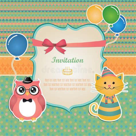 birthday invitation card design vector free download birthday party invitation card design stock vector