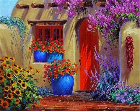 colorful houses painting cuadros modernos pinturas y dibujos imagenes de flores