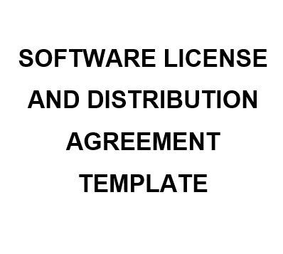 Ne0190 Software License And Distribution Agreement English Namozaj Licensing And Distribution Agreement Template