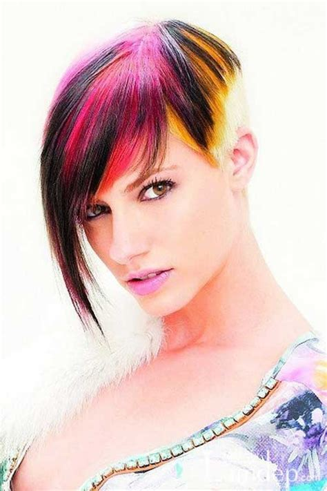 hairstyles multi colored highlights short multi colored hair short hairstyle 2013