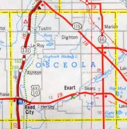 osceola county florida map michigan osceola county 171 every county