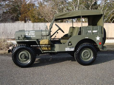willys army jeep willys 1960 cj3b army m606 style type