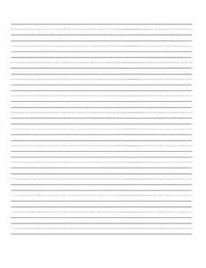 6 best images of free printable blank handwriting practice