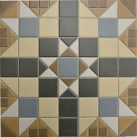 Bargain Victorian Look Dorset Marron 31.6 x 31.6 Floor