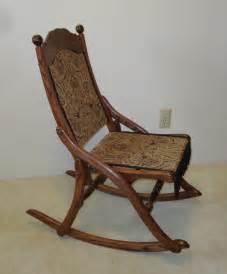 civil war folding rocking chair