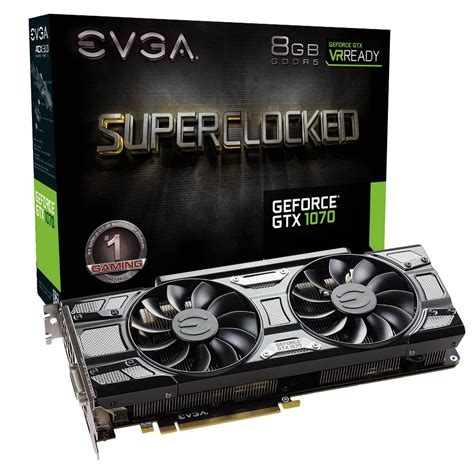 Evga Vga Gtx 1070 8gb Gaming evga products evga geforce gtx 1070 sc gaming 08g p4 5173 kr 8gb gddr5 acx 3 0 black