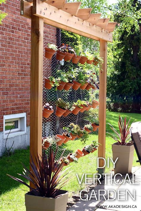 How To Build Your Own Diy Vertical Garden Wall How To Make A Vertical Wall Garden