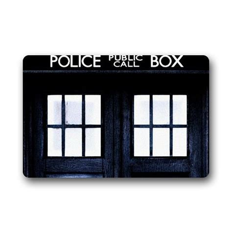 Dr Who Doormat by Charmhome Doctor Who Box Custom Machine Washable