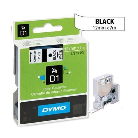 dymo label cassette dymo black on white 12mmx7m d1 label s0720530