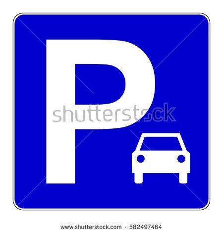 car parking sign blue parking sign stock vector 582497464