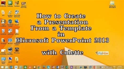 how to create powerpoint template 2013 create a presentation from a template in microsoft