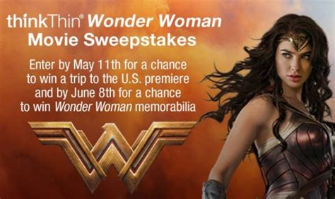 Wonder Woman Giveaway - thinkthin wonder woman sweepstakes