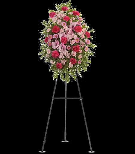 T249 2A Pink Tribute Spray cainsbridalwreath.com