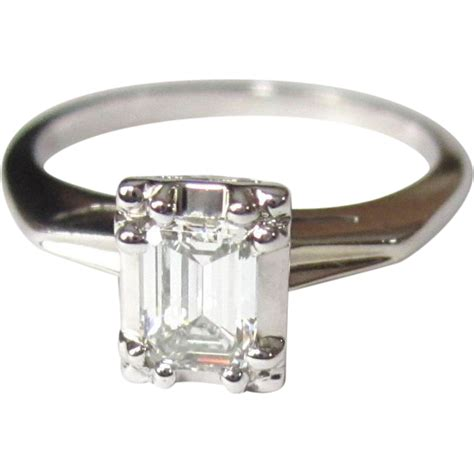 engagement ring 14k emerald cut 1 2 carat from
