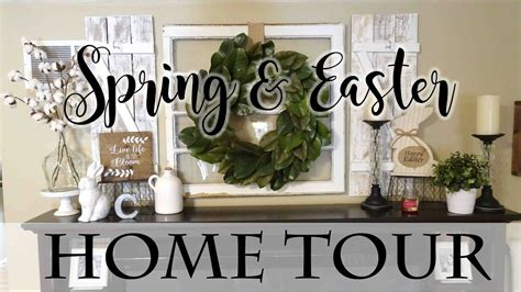 spring home decor 2017 farmhouse chic easter tablescape spring easter farmhouse style home tour get link youtube