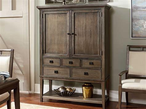 Entertainment Bar Cabinet American Drew Park Studio Weathered Taupe With Gray Wash Entertainment Bar Cabinet Ad488891