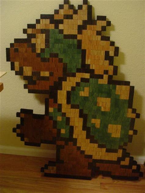 pixelated mario characters 8 bit wooden super mario bros characters hiconsumption