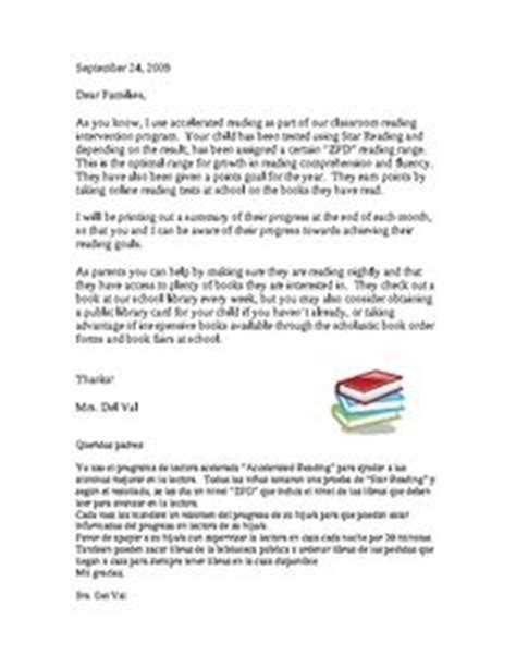 Parent Letter Explaining Accelerated Reader 1000 Images About Accelerated Reader On