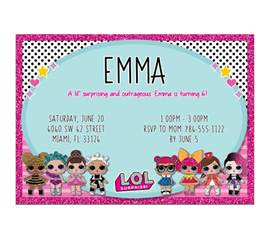 lol dolls birthday digital invitation