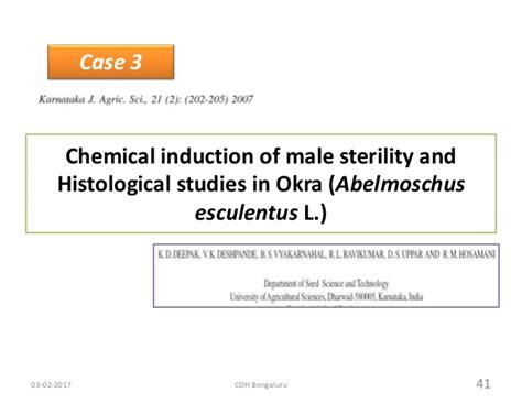 chemical induction of sterility sterilitysystem in vegetables
