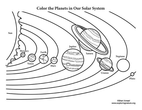 solar system coloring page color the solar system
