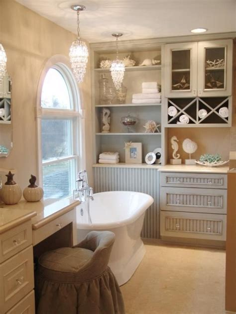 Coastal Bathroom Lighting Cottage Decorating Ideas Gardens Built Ins And Vanities