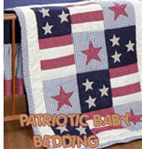patriotic baby bedding and nursery decor in white and blue
