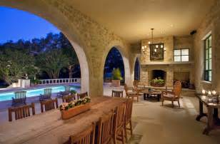 Tuscan Dining Room Decor Outdoor Loggia Traditional Patio Austin By Chas