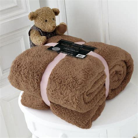 Teddy Fleece Decke by Luxury Size Soft Fleece Blanket Teddy Throw For