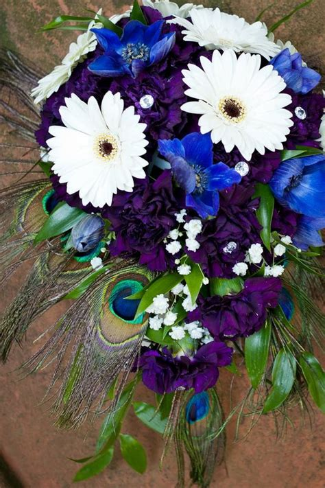 themes rosefeather anemone and peacock bouquet google search peacock