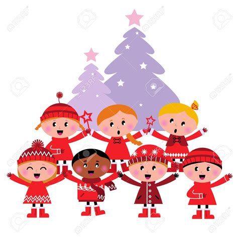 kids singing christmas clipart clipartxtras