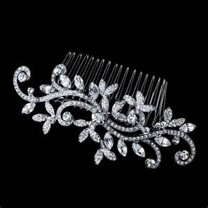 Wedding Hairstyles With Diamantes by Celeste Diamante Bridal Hair Comb Olivier Laudus