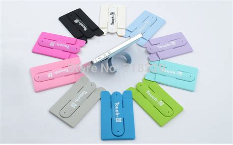 Rivet Cell Phone Holders by New Phone Accessories Touch U Portable Card Type Mobile